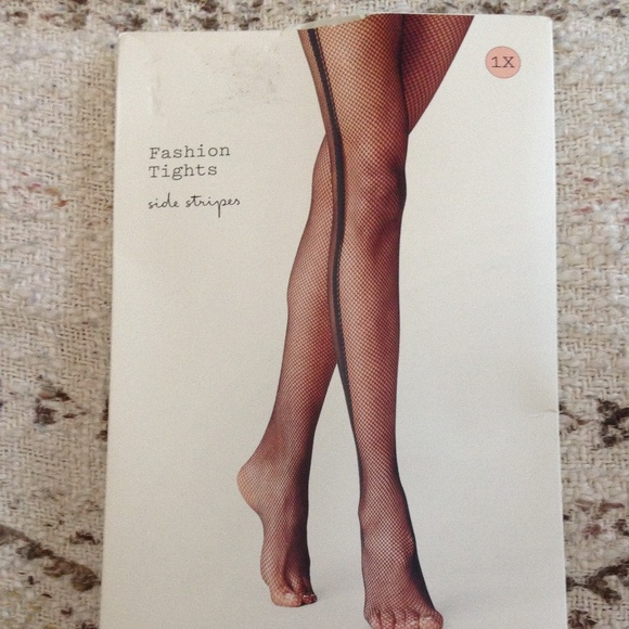 a new day Side Stripe Mesh Tights — Size 1X — NWT
